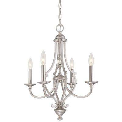 Savannah Row 4-Light Brushed Nickel Chandelier