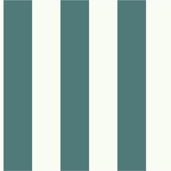 Magnolia Home by Joanna Gaines 56 sq. ft. Blue and White Awning Stripe Removable Wallpaper