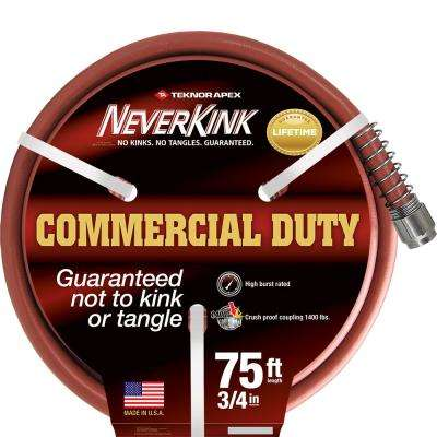 PRO 3/4 in. Dia x 75 ft. Commercial Duty Water Hose