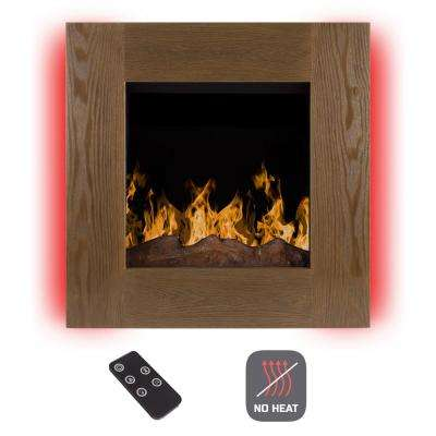 24 in. Wall-Mount No Heat Electric Fireplace in Barn Wood