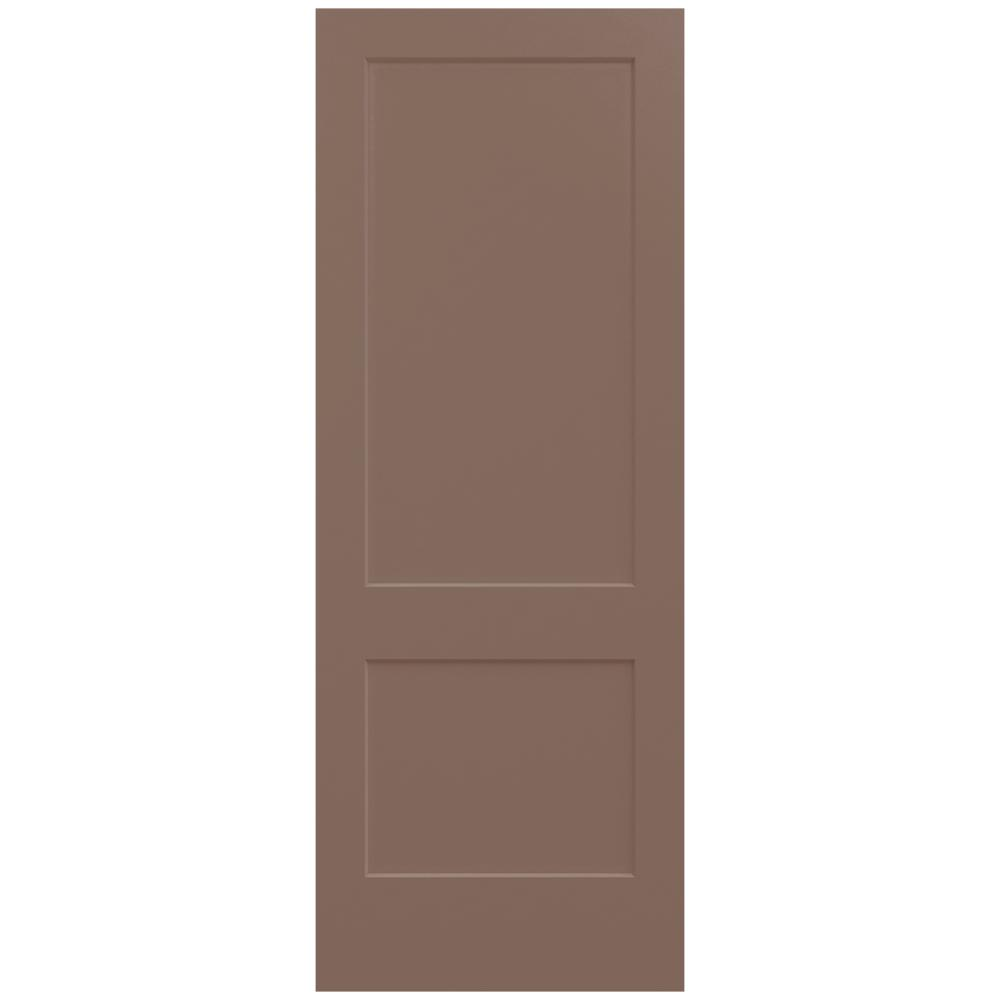 Jeld wen 36 in x 96 in monroe medium chocolate painted for Mdf solid core interior doors