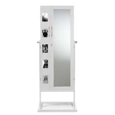 Vittoria White Wood Jewelry Armoire