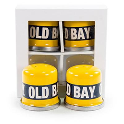 Old Bay Enamelware Salt and Pepper Shakers (Set of 2)