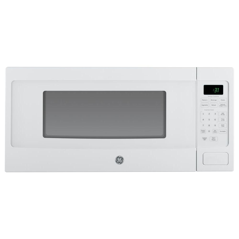 Ge Profile 1 1 Cu Ft Countertop Microwave In White