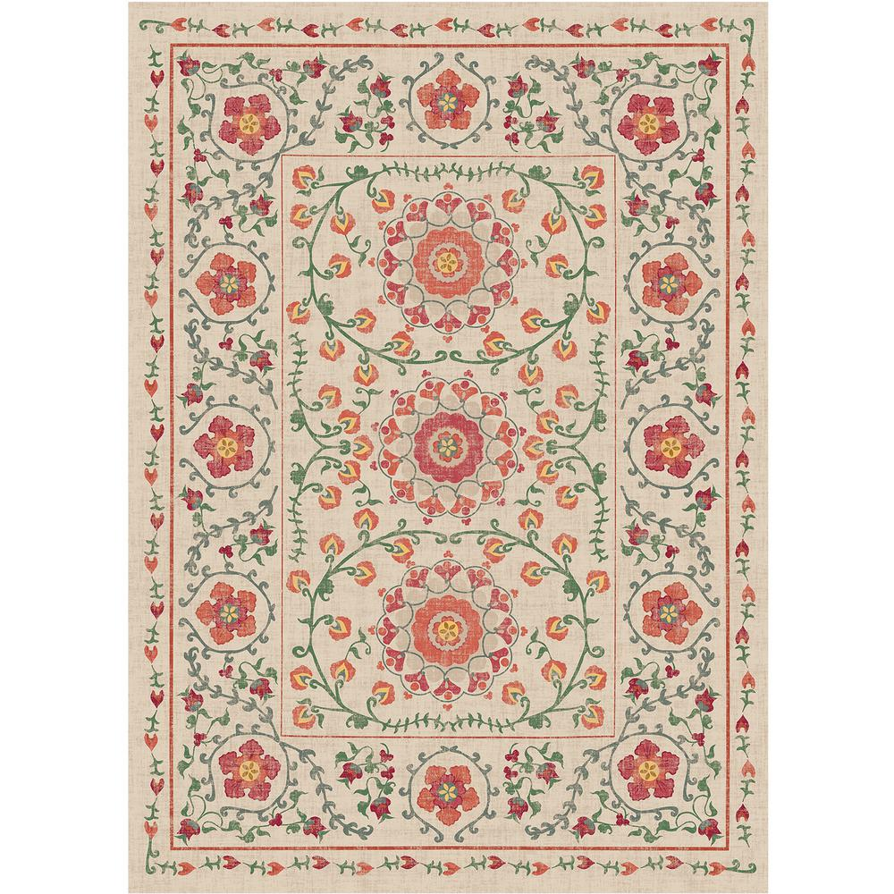 Washable Rugs Home Depot: Ruggable Washable Suzi Coral 5 Ft. X 7 Ft. Area Rug-131875