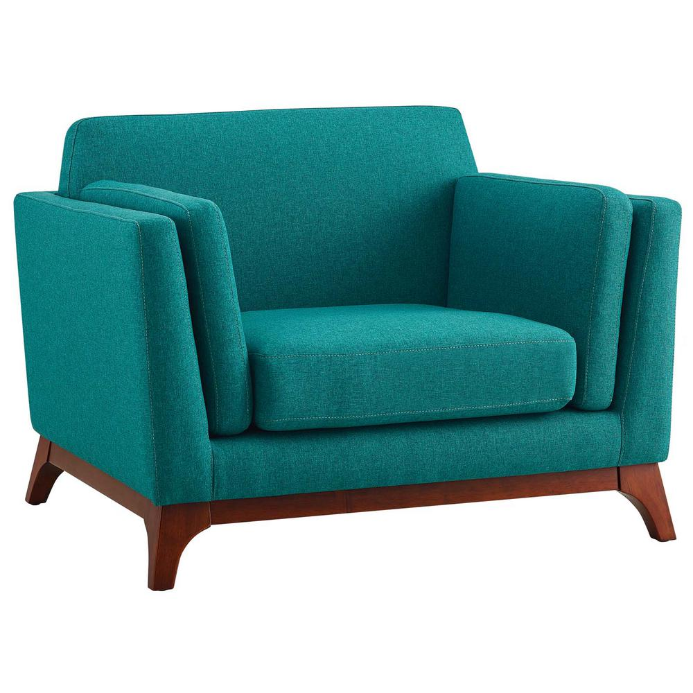 Chance Teal Upholstered Fabric Armchair