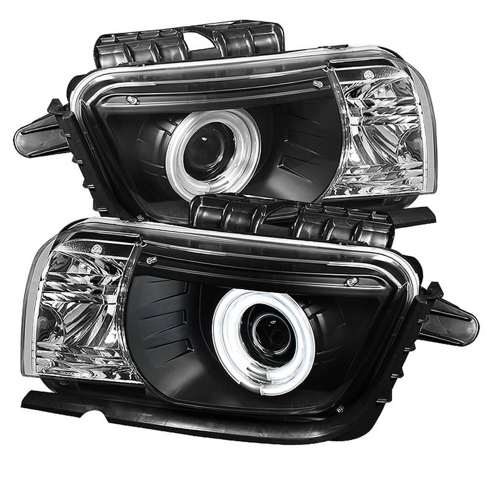 Spyder Auto Chevy Camaro 10-13 Projector Headlights (for halogen models  only) Dual Halo - CCFL Halo - Black - High/Low H7 (Included)