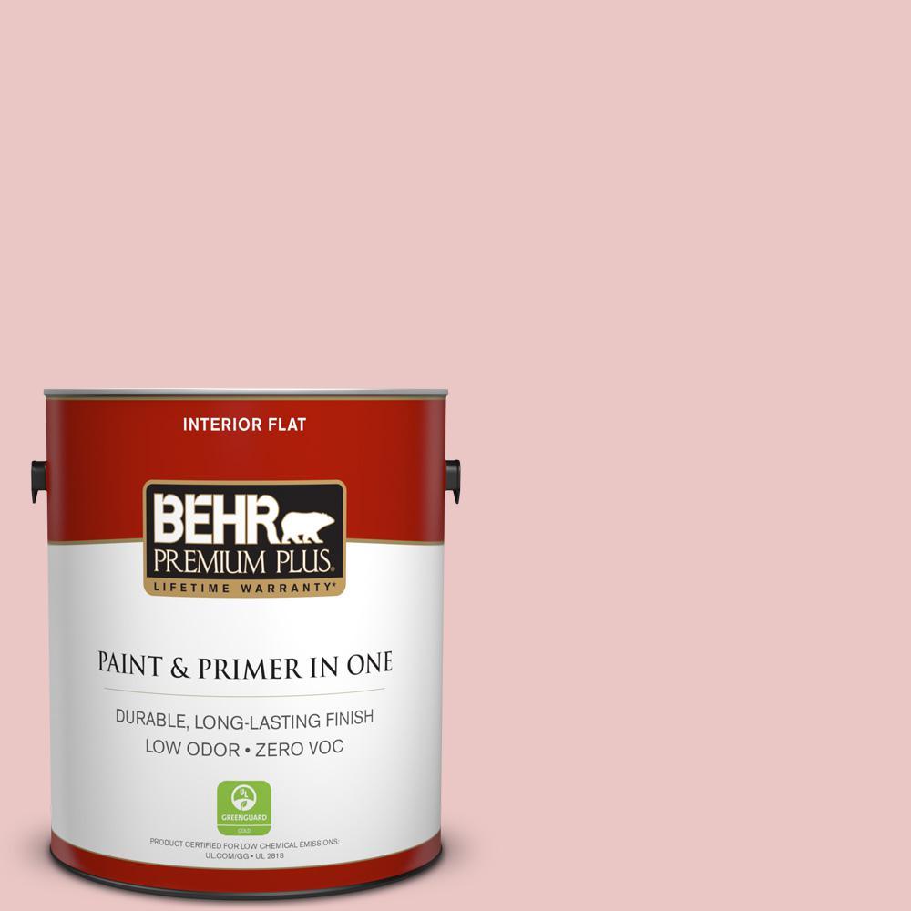BEHR Premium Plus 1-gal. #150E-2 Kashmir Pink Zero VOC Flat Interior Paint