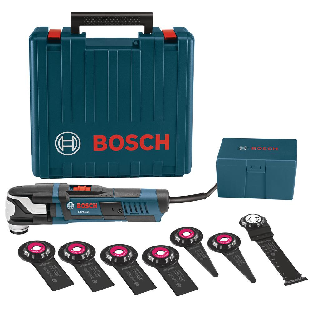 bosch 5 5 amp corded starlockmax oscillating multi tool kit with case 8 piece gop55 36c1 the. Black Bedroom Furniture Sets. Home Design Ideas