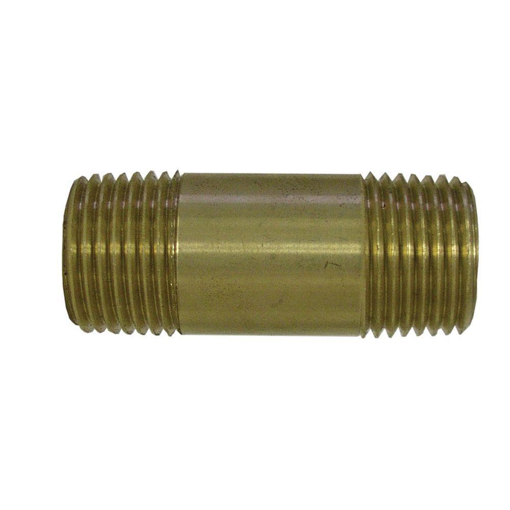 Everbilt Lead-Free Brass Pipe Nipple 1 in. MIP x 3 in.