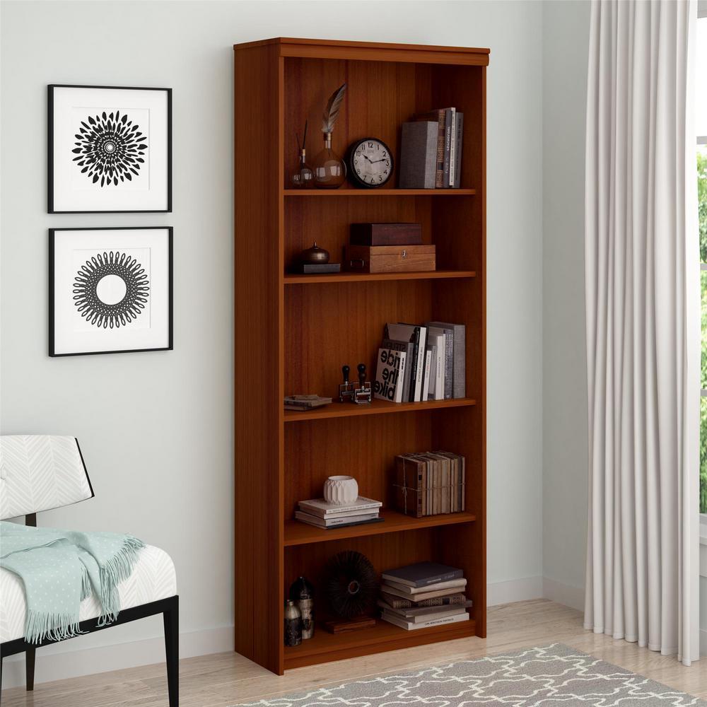 Presley Expert Plum Open Bookcase