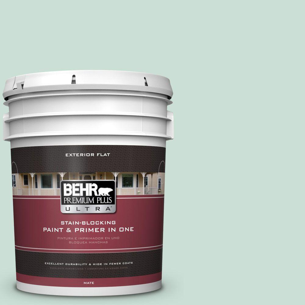 BEHR Premium Plus Ultra 5-gal. #M430-2 Ice Rink Flat Exterior Paint