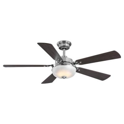 Archie 52 in. Integrated LED Indoor Polished Chrome Dual Mount Ceiling Fan with Light Kit and Remote Control