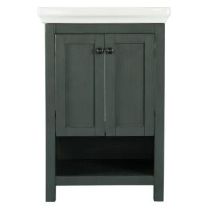 Home Decorators Collection Hanley 23-3/4 inch W x 18 inch D Bath Vanity in Charcoal Grey... by Home Decorators Collection
