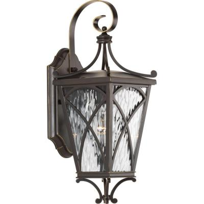 Cadence Collection 1-Light Oil Rubbed Bronze 16.25 in. Outdoor Wall Lantern Sconce