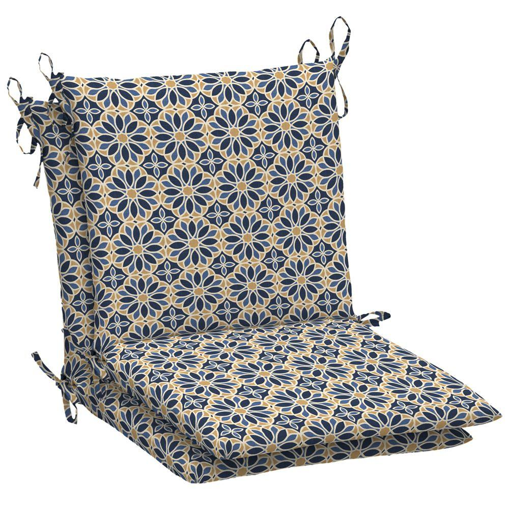 Arden Ellora Marine Mid Back Outdoor Chair Cushion (2-Pack)-DISCONTINUED