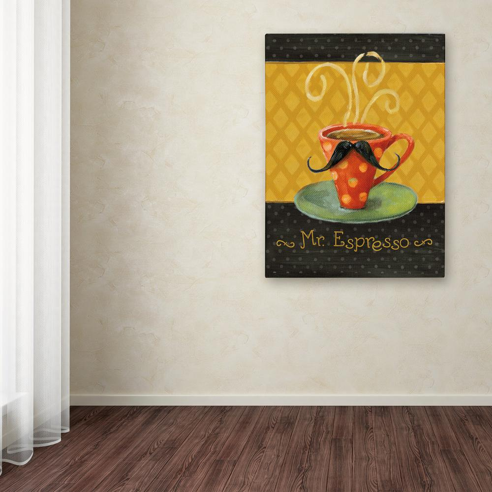 Trademark Fine Art 24 In X 18 In Quot Cafe Moustache Iii Quot By
