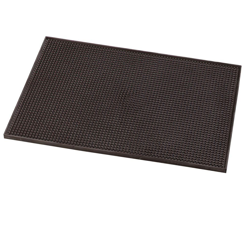 Carlisle 12 X 18 In Thermoplastic Rubber Bar Service Mat In Brown