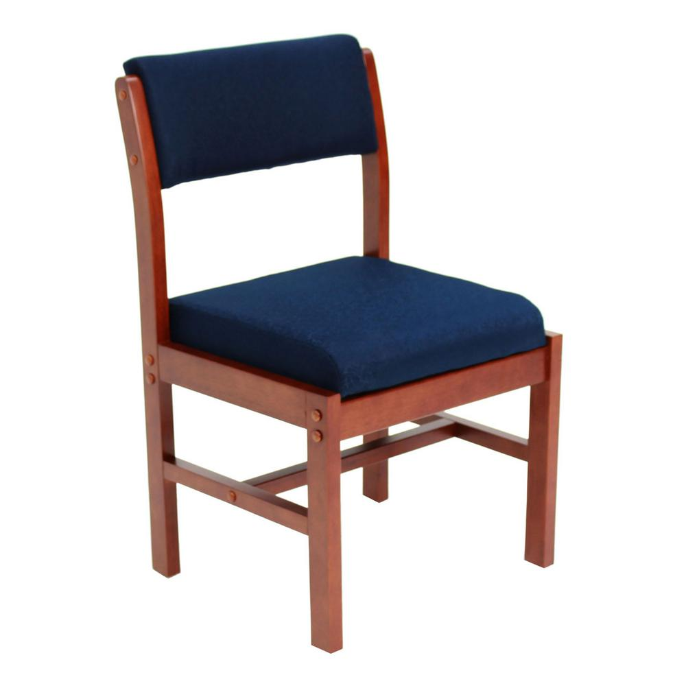 Belcino Cherry and Blue Leg Base Side Chair
