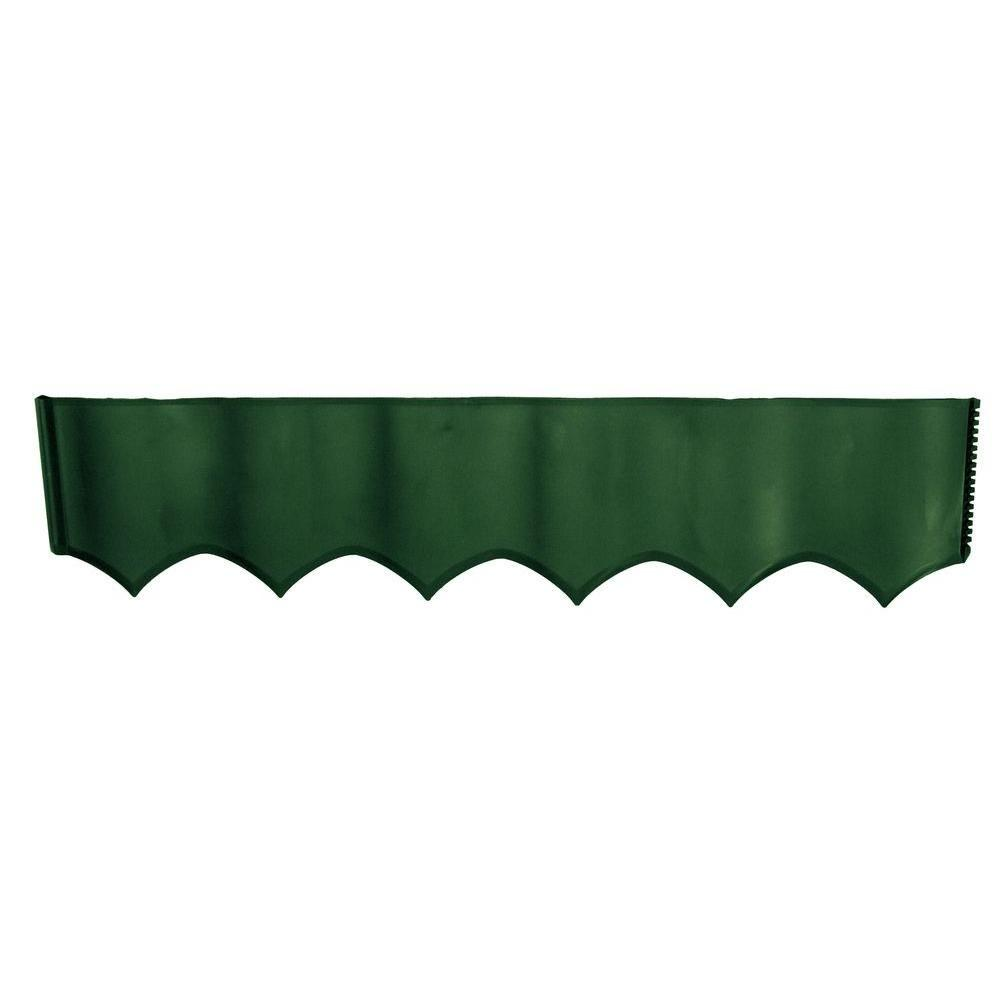 2 ft. W x 0.25 in. L Green Plastic Easy Edging