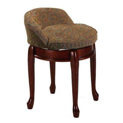 Delmar Tapestry Swivel Vanity Stool