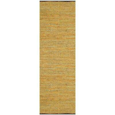 Gold Leather 2 ft. 6 in. x 12 ft. Runner