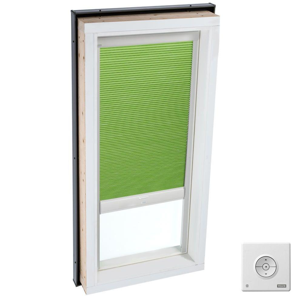 Solar Powered Room Darkening Green Skylight Blinds for FCM 3046, QPF