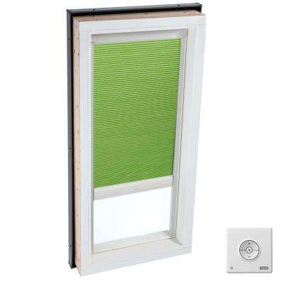 Solar Powered Room Darkening Green Skylight Blinds for FCM 3446 Models