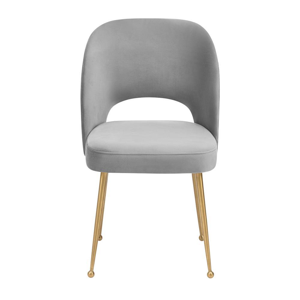 Tov Furniture Swell Light Grey Velvet Chair