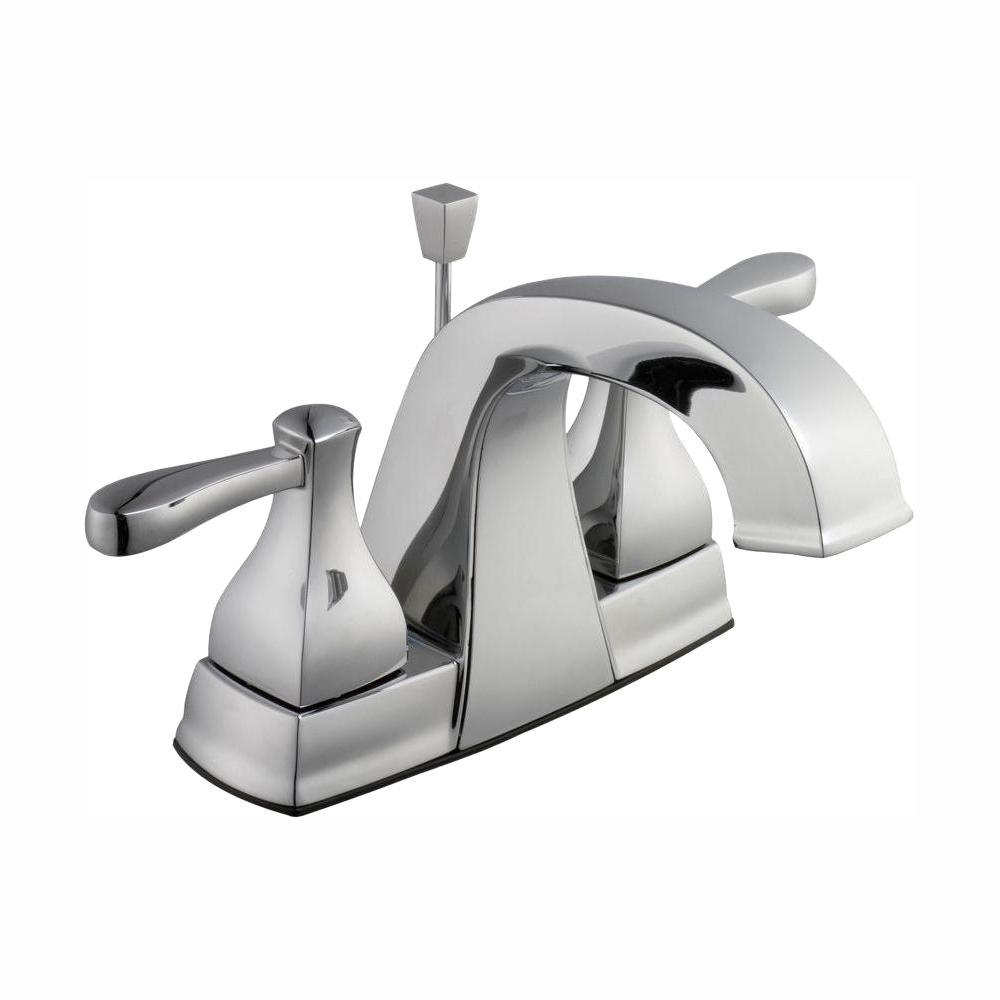 Glacier Bay Milner 4 in. Centerset 2-Handle High-Arc Bathroom Faucet in Chrome