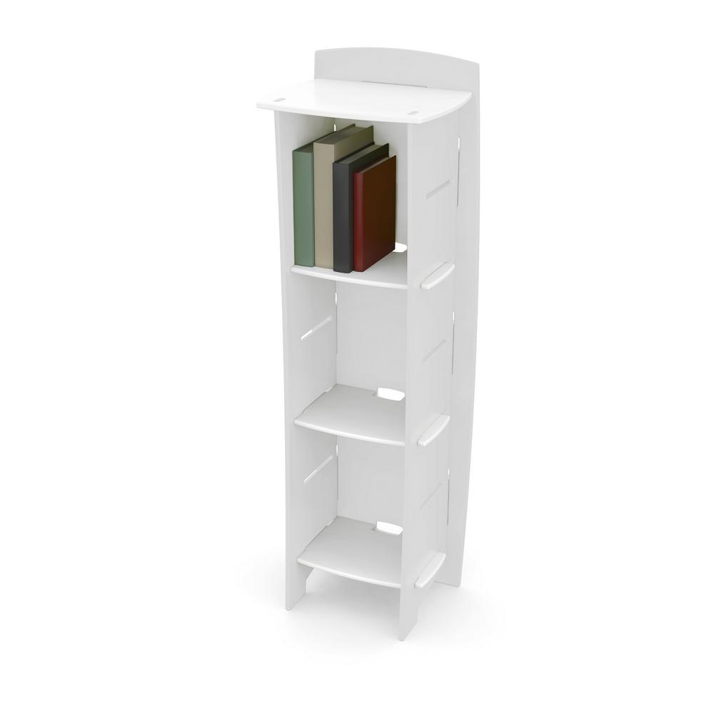 Kid's Bookcase with 3 Shelves in Classic Collection White and White