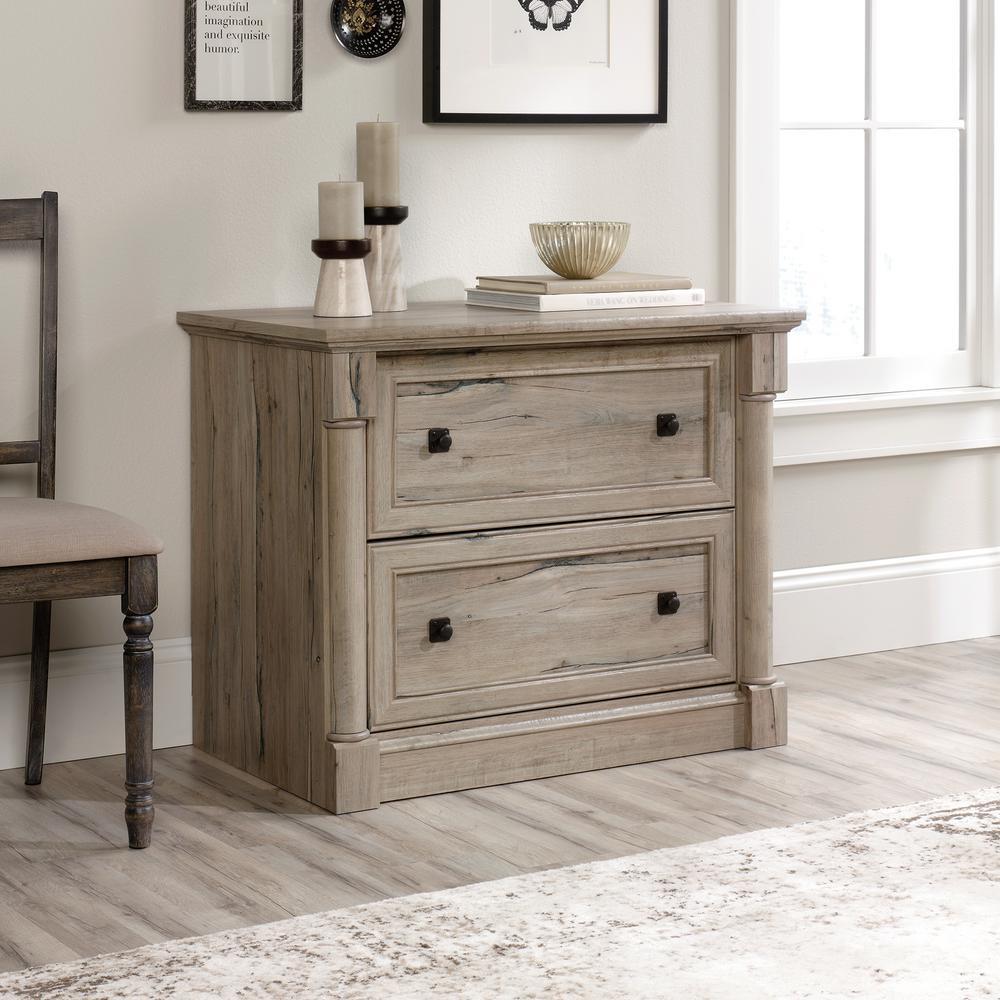 SAUDER Palladia Split Oak Lateral File Cabinet-34 - The Home Depot