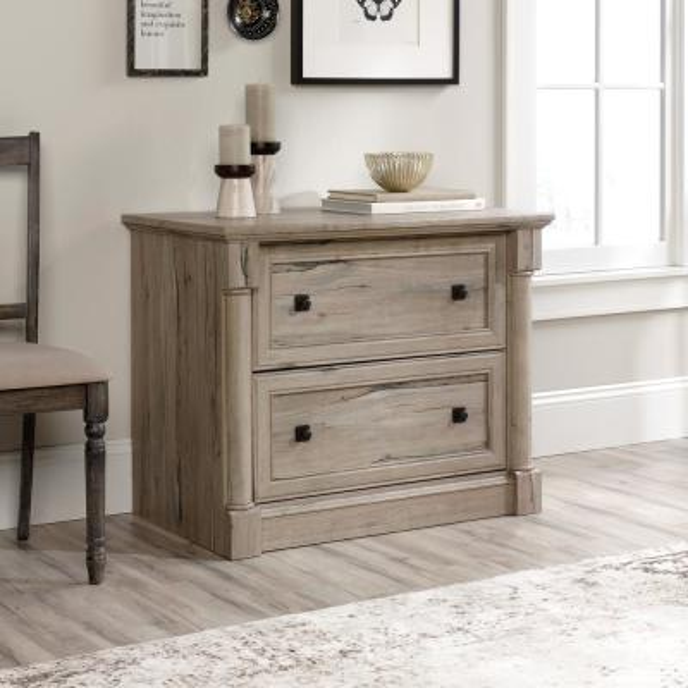 Palladia Split Oak Lateral File Cabinet