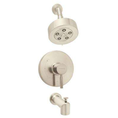 Neo Single-Handle 3-Spray Shower and Tub Combination in Brushed Nickel