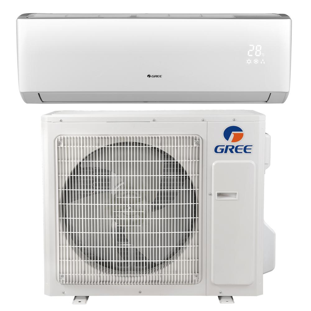 Gree Livo 28000 Btu Ductless Mini Split Air Conditioner With Inverter Heat And Remote 230volt Livs30hp230v1b The Home Depot