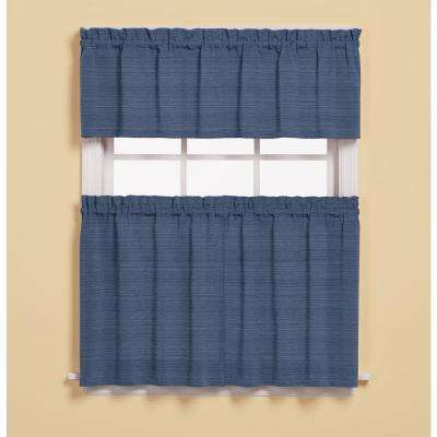 Austin 13 in. L Polyester/Cotton Valance in Denim