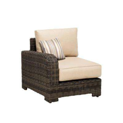 Northshore Left Arm Patio Sectional Chair with Harvest Cushion and Terrace Lane Throw Pillow -- CUSTOM