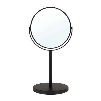 6 in. 2-Sided 1X and 5X Counter Top 14 in. Magnifying Makeup Mirror in Rubbed Bronze