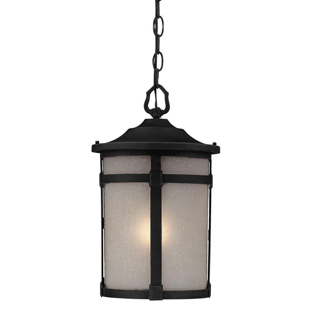 Beyer 1-Light Rich Black Outdoor Pendant