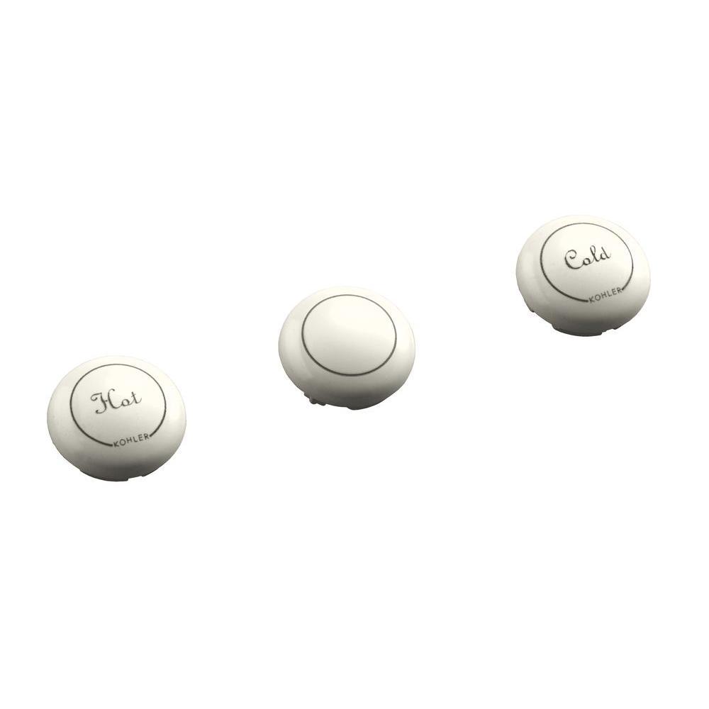 KOHLER Fairfax 3-Piece Plug Button Set in Biscuit-DISCONTINUED