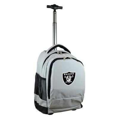Denco NFL Oakland Raiders 19 in. Gray Wheeled Premium Backpack