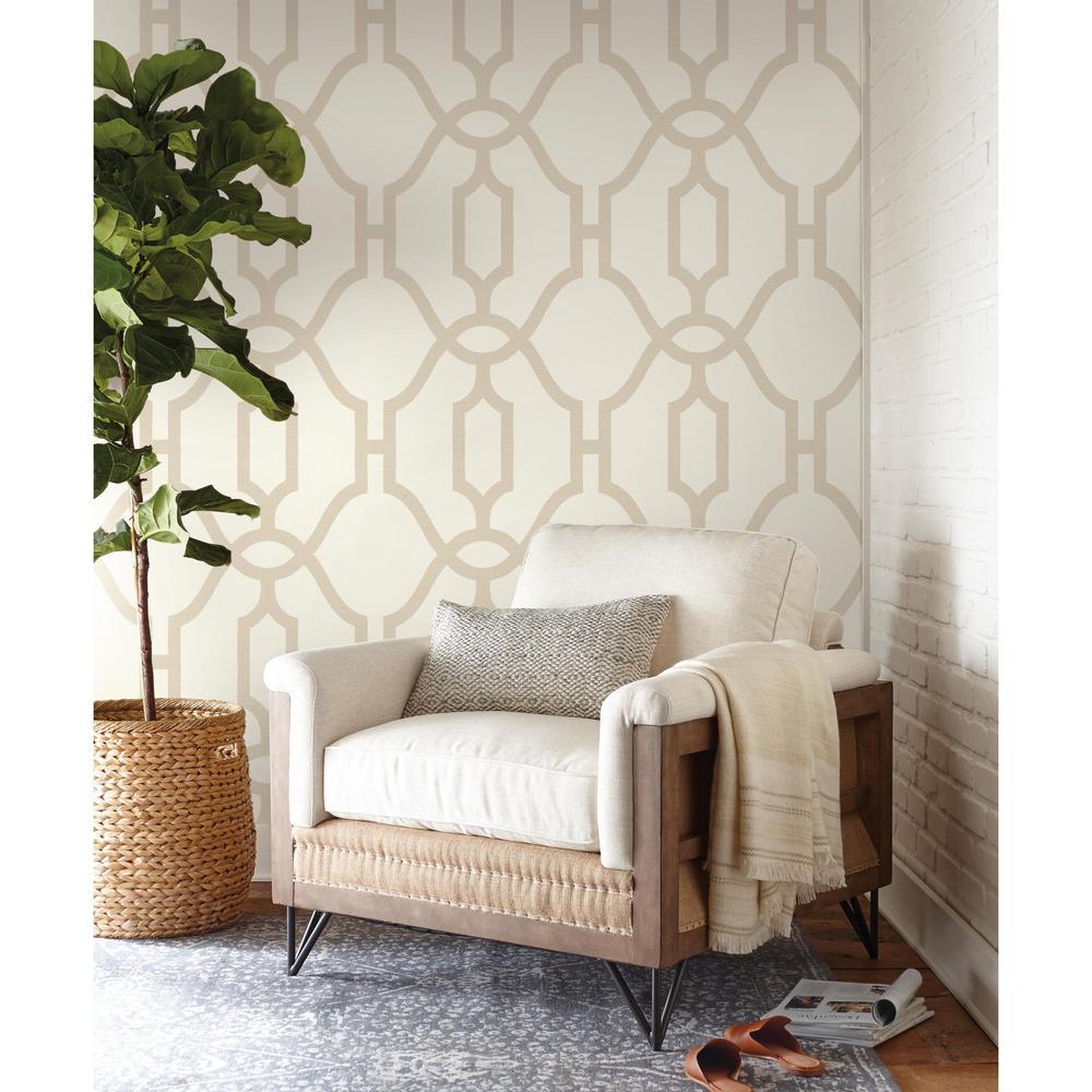 Woven Trellis Wallpaper