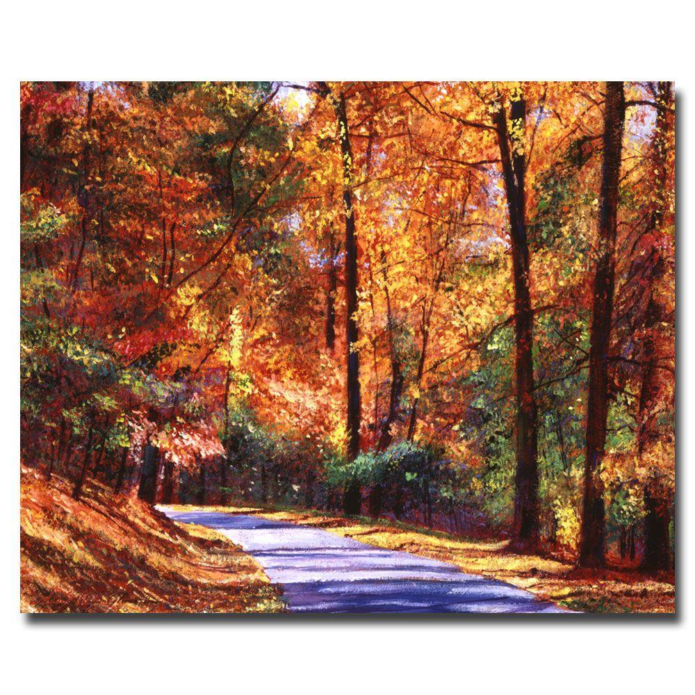 Trademark Fine Art 26 in. x 32 in. Along the Winding Road Canvas Art