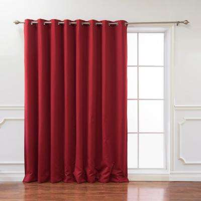Wide Basic 100 in. W x 96 in. L Blackout Curtain in Cardinal Red