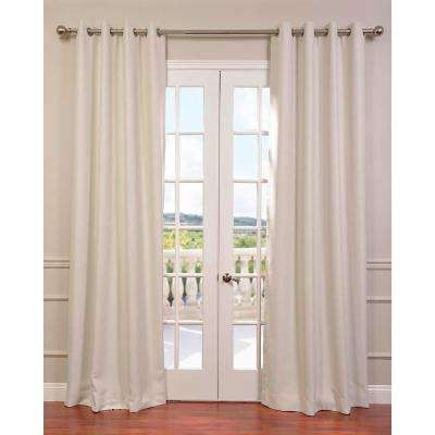 Semi-Opaque Cottage White Bellino Grommet Blackout Curtain - 50 in. W x 96 in. L (Panel)