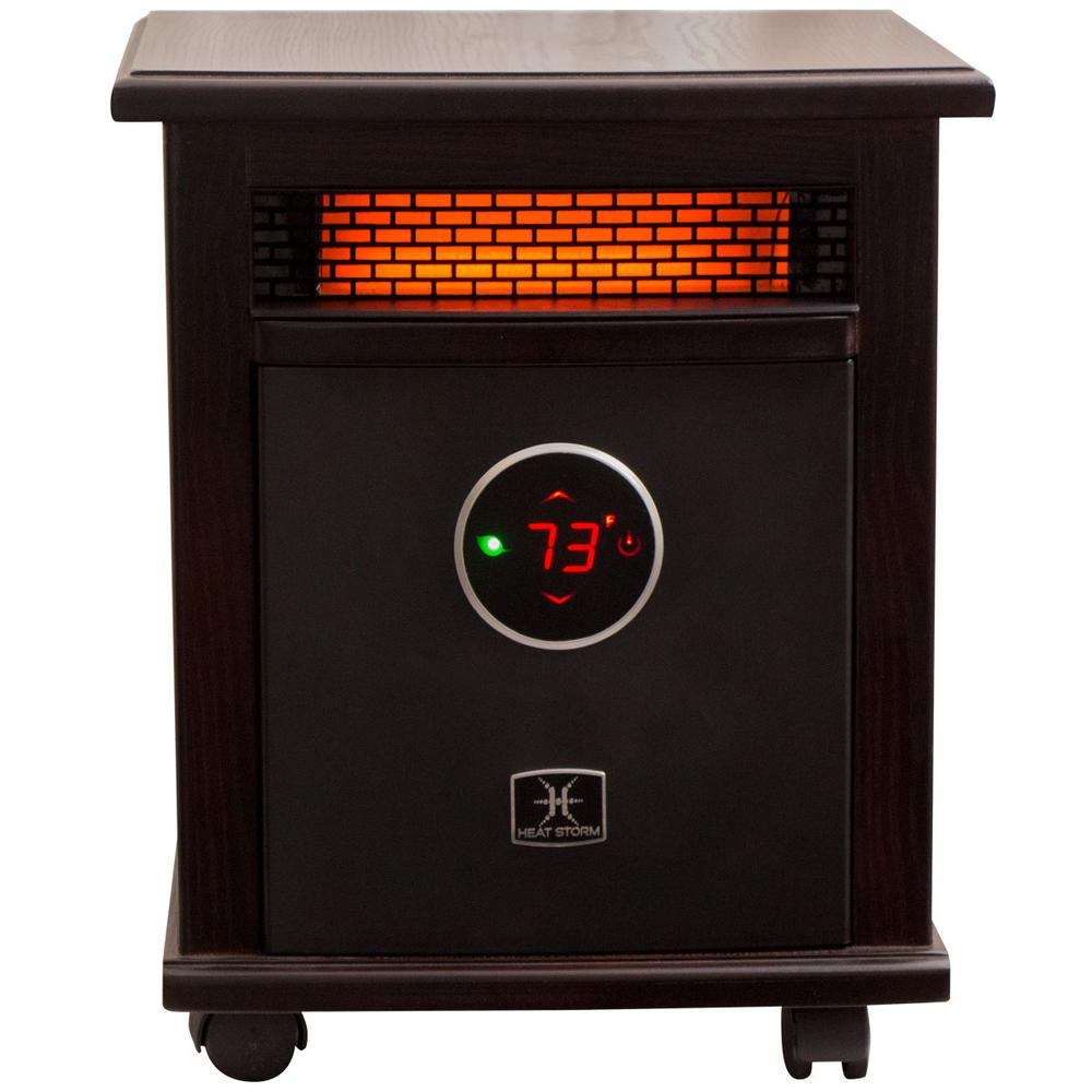 Logan Deluxe 1,500-Watt Infrared Quartz Portable Heater with Built-In Thermostat