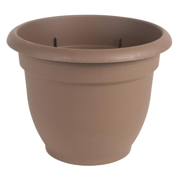 Ariana 20 in. Chocolate Plastic Self-Watering Planter