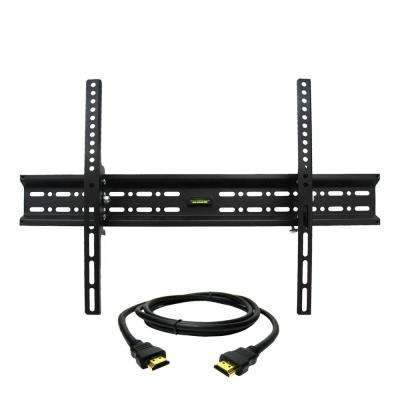 Tilt Wall Mount for 32 in. - 70 in. TVs with HDMI Cable in Black