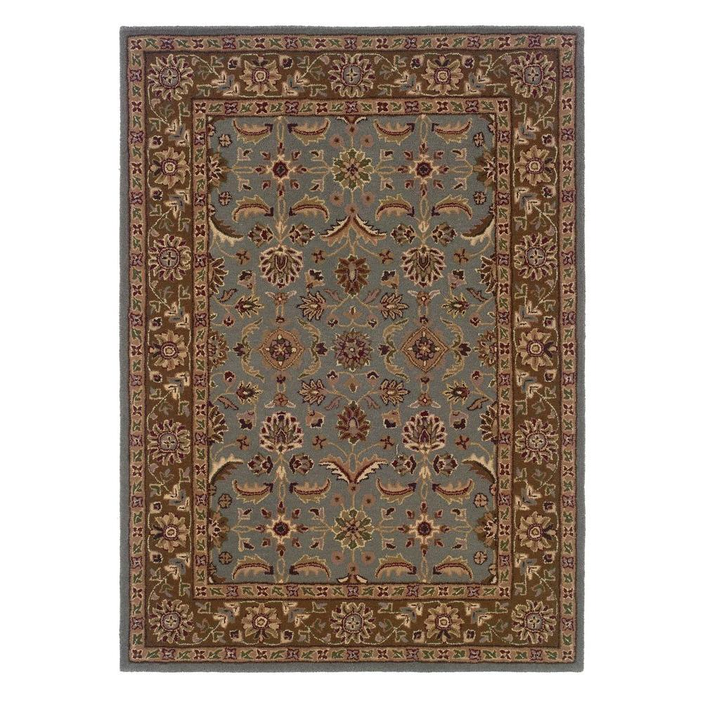 Linon home decor trio traditional light blue and brown 1 for International home decor rugs