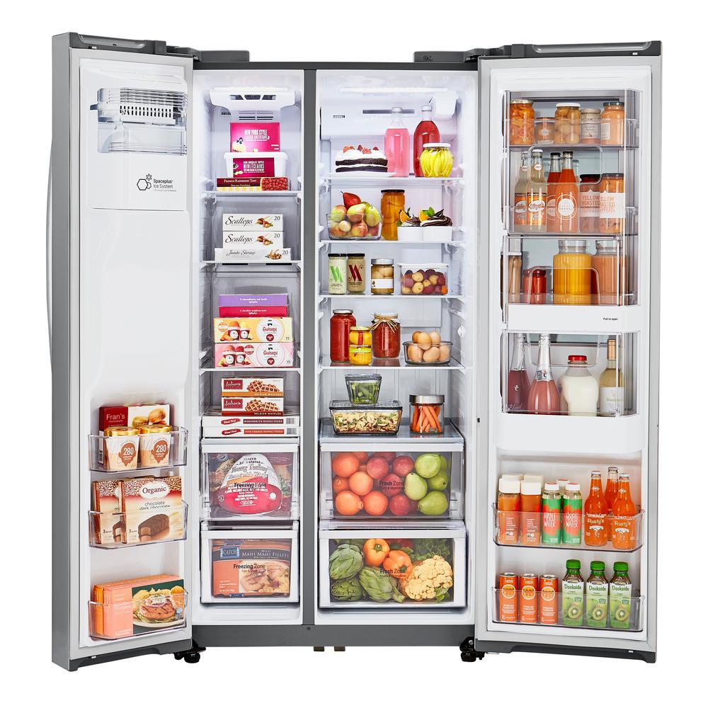 21.7 cu. ft. Side by Side Smart Refrigerator with InstaView Door-in-Door in Stainless Steel, Counter Depth